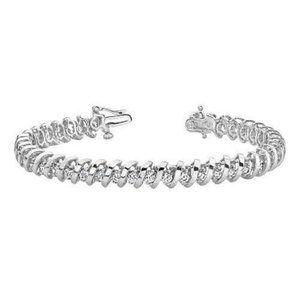 Jewelry - 5.5 carats prong set diamond tennis bracelet gold